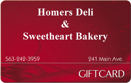 Sweetheart Bakery Gift Certificates